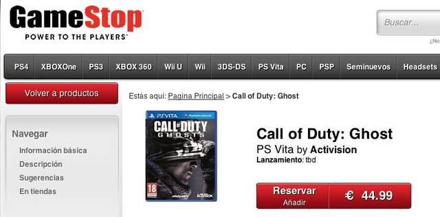 Call of Duty: Ghosts puede llegar también a Vita
