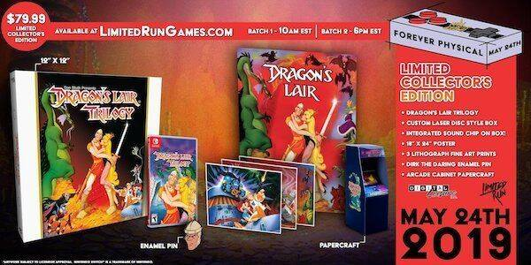 Dragon's Lair Trilogy tendrá una edición física para coleccionistas en Switch