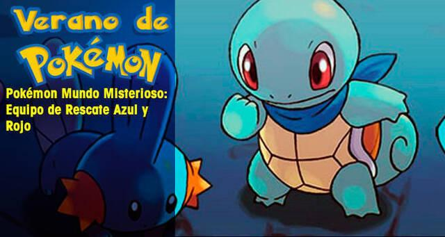 Verano de Pokémon: Pokémon Mundo Misterioso Equipo de Rescate Azul y Rojo