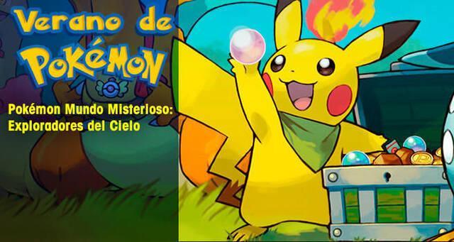 Verano de Pokémon: Pokémon Mundo Misterioso: Exploradores del Cielo