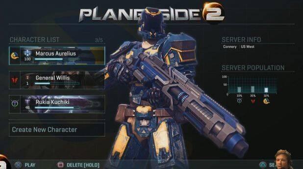 Planetside 2 muestra su interfaz en PlayStation 4