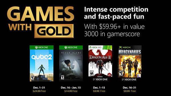 Anunciados los Juegos con Gold de diciembre de 2018