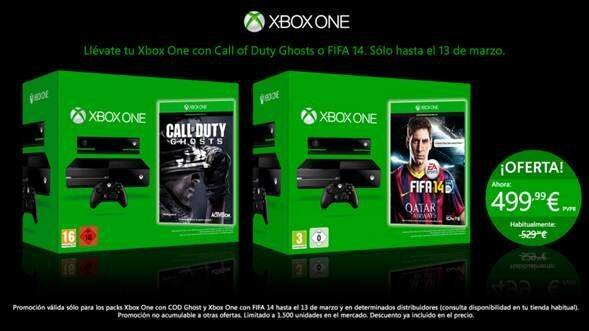 Los packs de Xbox One con FIFA 14 o COD: Ghosts de oferta hasta el 13 de marzo