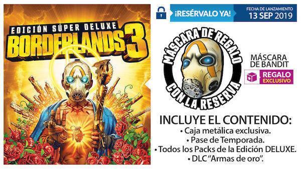 GAME detalla sus regalos, incentivos y ediciones exclusivas para Borderlands 3