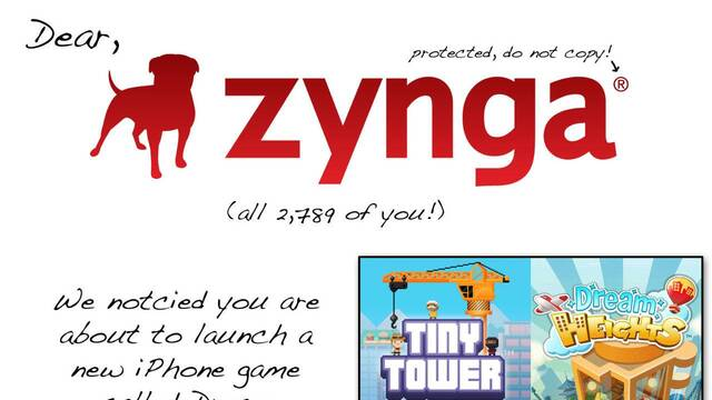 Los creadores de Tiny Tower acusan a Zynga de plagio con un gráfico comparativo