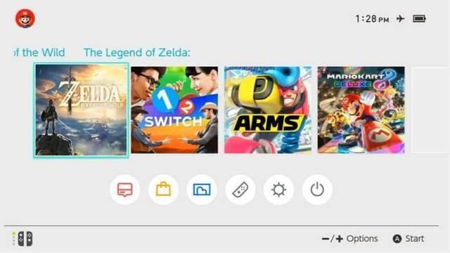 Mostrada la interfaz general de Nintendo Switch