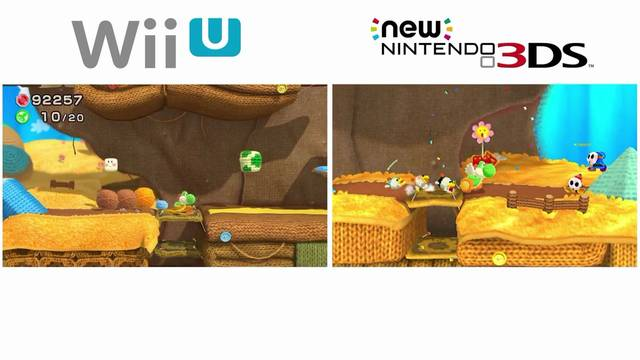 Realizan una comparativa entre Yoshi's Woolly World para Wii U y Nintendo 3DS