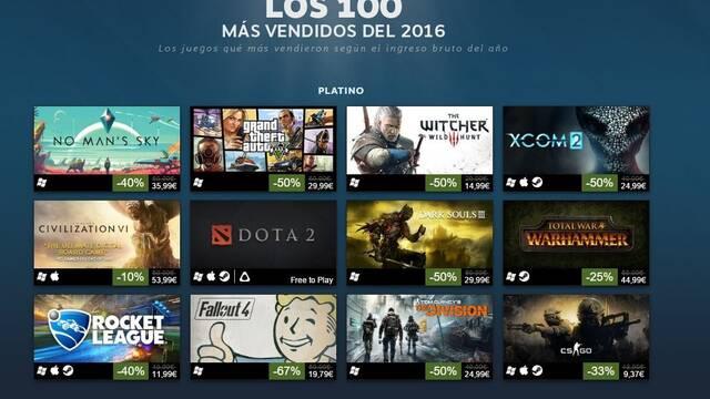 Desvelados los 100 juegos más exitosos de Steam durante 2016