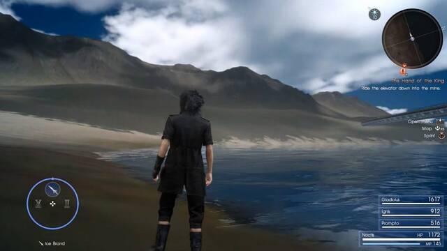 Un 'glitch' en Final Fantasy XV permite explorar nuevas zonas del mapa