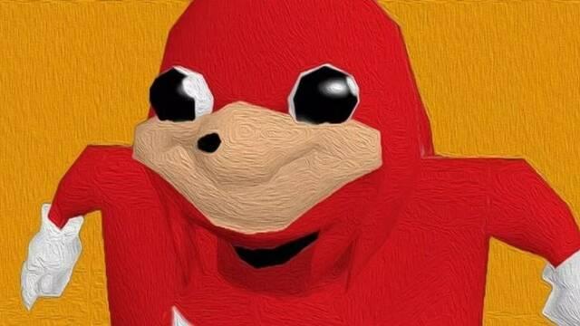 Sonic hace que el meme del Knuckles ugandés sirva para una buena causa