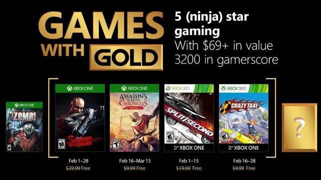 Anunciados los Juegos con Gold de febrero