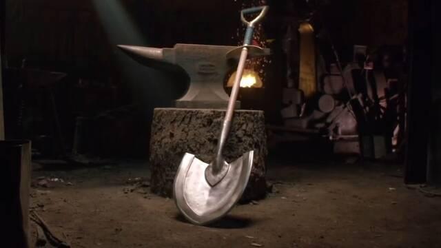 Forjan el arma de Shovel Knight como homenaje al videojuego
