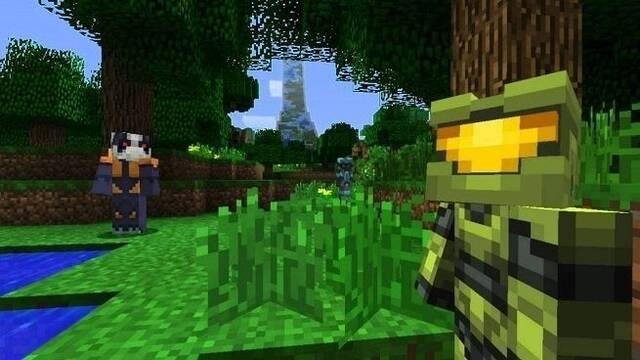 Master Chief irrumpe en Nintendo Switch gracias a Minecraft