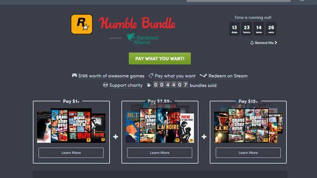 El nuevo Humble Bundle está dedicado a juegos de Rockstar