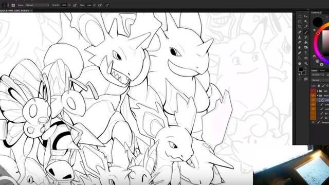 Un fan de Pokémon dibuja más de 800 criaturas en este impresionante mural