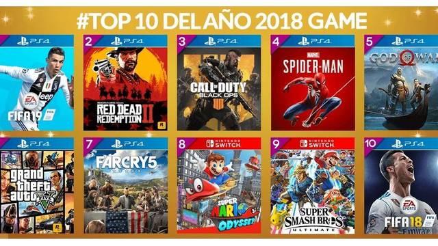 GAME detalla los juegos más vendidos durante 2018