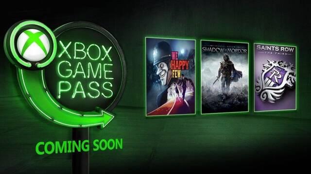 Xbox Game Pass: Sombras de Mordor o We Happy Few llegarán pronto