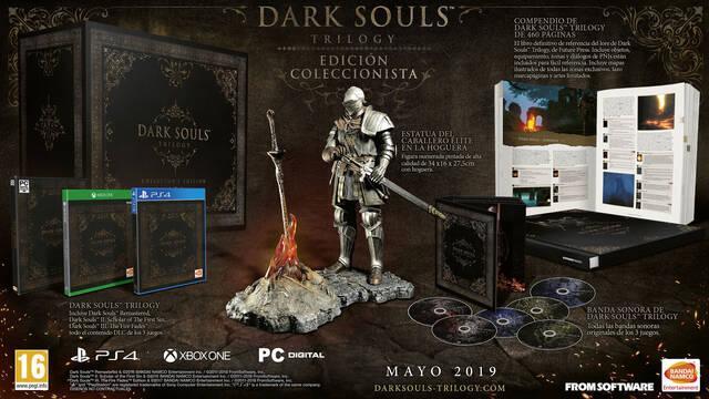 Así es la edición coleccionista de Dark Souls Trilogy de 500 euros