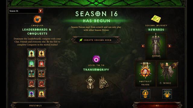 Diablo III estrena su Temporada 16 y un nuevo parche de actualización
