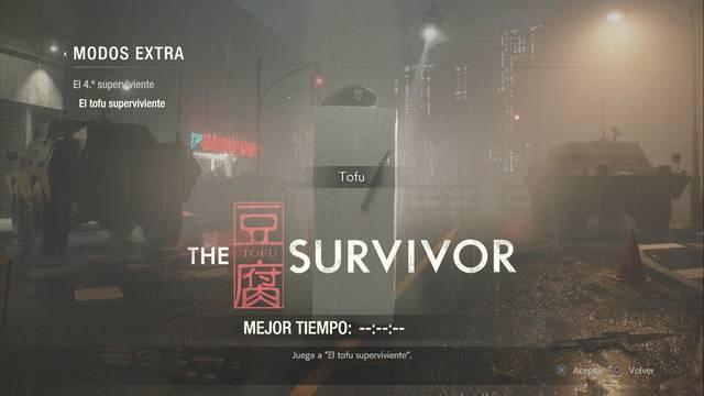 Cómo desbloquear El tofu superviviente - Resident Evil 2 Remake