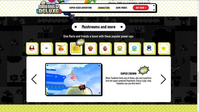 El canon de New Super Mario Bros. U Deluxe rechaza a Bowsette