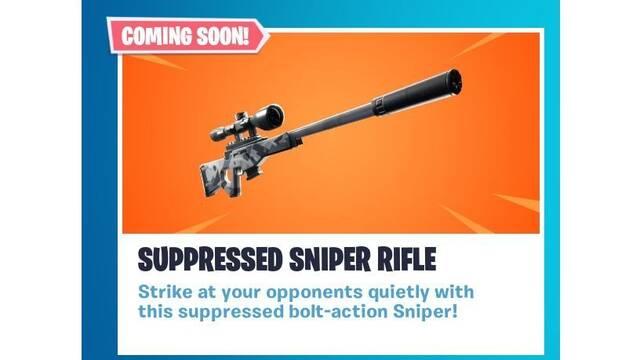 Así es el nuevo rifle francotirador de Fortnite Battle Royale