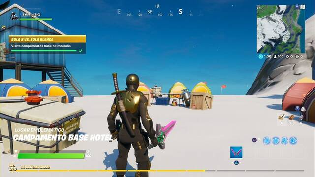 Desafío Fortnite: Visita campamentos base de montaña - LOCALIZACIÓN