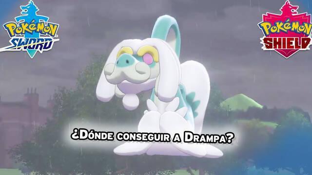 Dónde encontrar y capturar a Drampa en Pokémon Espada y Escudo