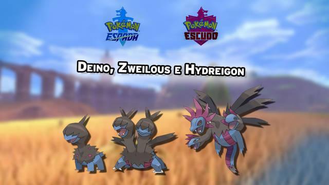 Dónde conseguir a Deino, Zweilous e Hydreigon en Pokémon Espada y Escudo
