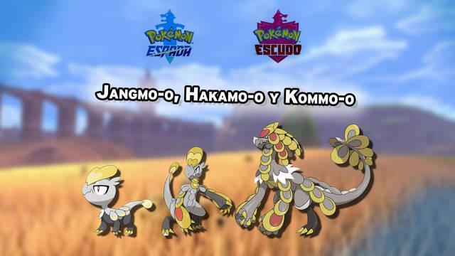 Dónde conseguir a Jangmo-o, Hakamo-o y Kommo-o en Pokémon Espada y Escudo