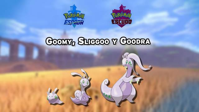 Dónde conseguir a Goomy, Sliggoo y Goodra en Pokémon Espada y Escudo