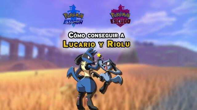 Dónde encontrar y capturar a Lucario y Riolu en Pokémon Espada y Escudo