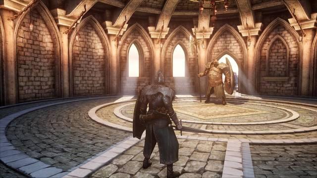 Dark Souls 2 con mod que mejora su iluminación.