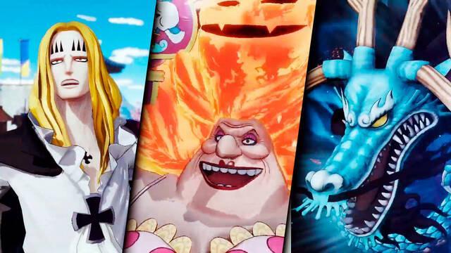 Basil Hawkins, Big Mom y Kaido de One Piece: Pirate Warriors 4
