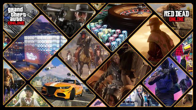 Recompensas y bonificaciones Red Dead Online y GTA Online