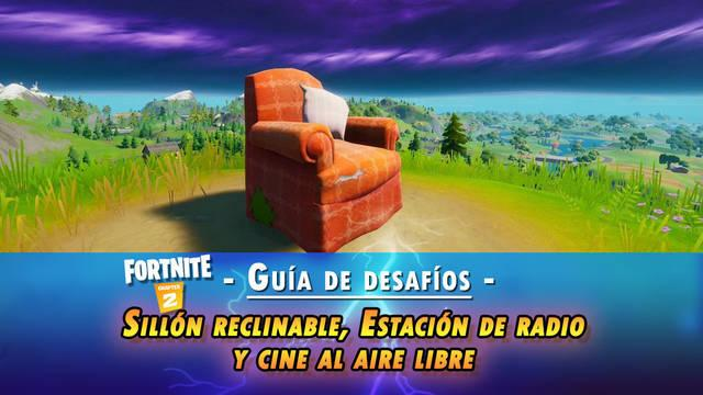 Fortnite: sillón reclinable, estación de radio y cine - LOCALIZACIÓN