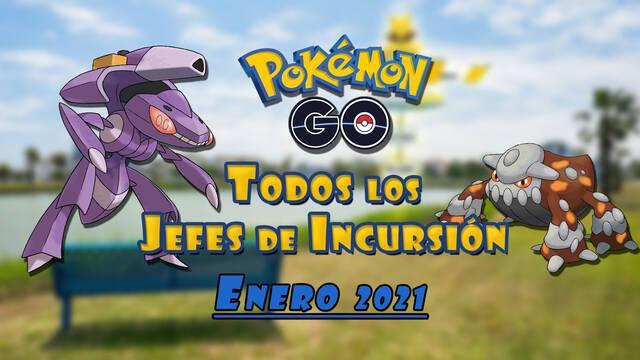 Pokémon Go: Todos los jefes de incursión de Enero 2021 (nivel 1, 3, 5 y Mega)