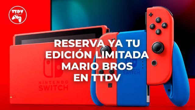 TTDV abre las reservas de la edición Mario de Nintendo Switch en rojo y azul