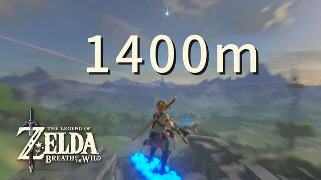 The Legend of Zelda Breath of the Wild: Abate a un enemigo con un flechazo a 1400 metros de distancia