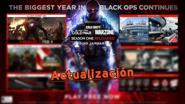 COD Black Ops Cold War y Warzone: Actualización Reloaded, nuevos mapas y más