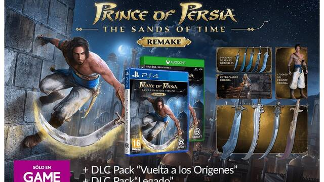 Prince of Persia: The Sands of Time Remake y sus reservas en GAME