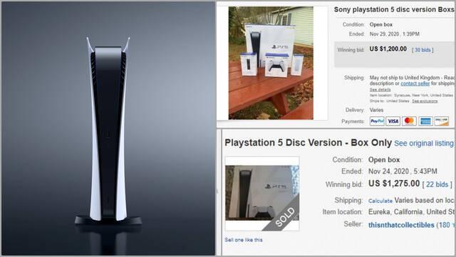 PS5 ebay caja timo