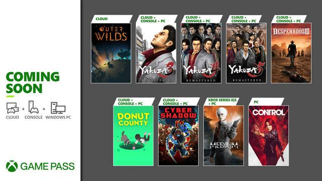 Xbox Game Pass: The Medium, Cyber Shadow, Yakuza y más se suman este mes al servicio