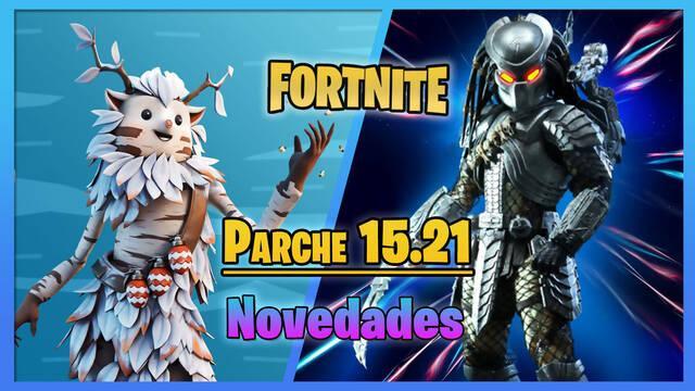 Fortnite parche 15.21: llegada de Depredador, cambios y todos los detalles