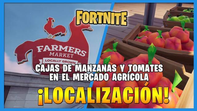 Fortnite: dónde encontrar cajas de manzanas y tomates