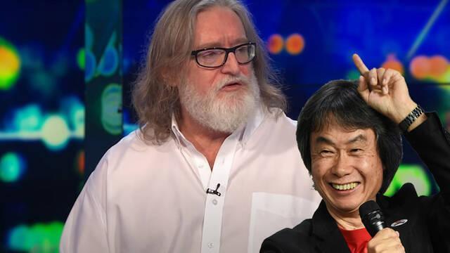Gabe Newell alaba a Shigeru Miyamoto