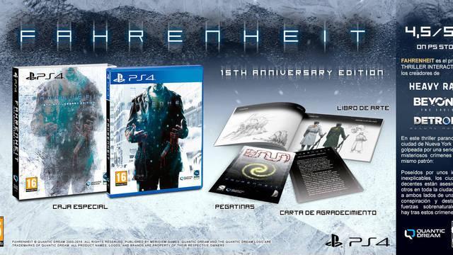 Fahrenheit 15TH Anniversary Edition presenta su contenido