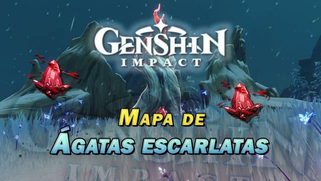 Ágatas escarlatas en Genshin Impact: LOCALIZACIÓN y recompensas