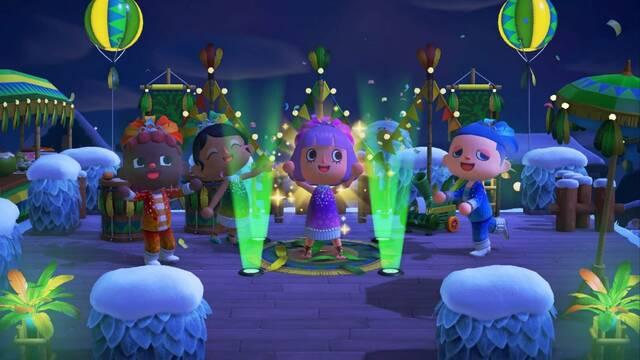 Nueva actualización gratuita de Carnaval para Animal Crossing: New Horizons.