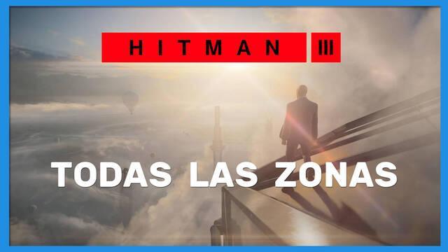 Todas las zonas de los niveles en Hitman 3